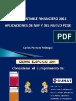 Cierre Contable - CPC. Carlos Paredes Reátegui 20-01-2012