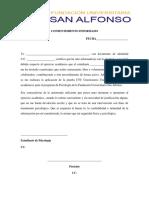Consentimiento Informado Aplicación de Prueba Ctc