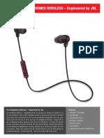 JBL Specification Sheet UA Wireless (English)
