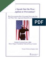 Teens Speak Out on War