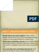 How to write a myth PPT