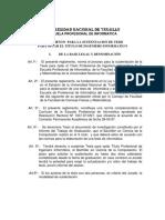 Reglamento Para Trabajo de Sustentacion de Tesis