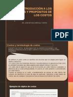 Introducción a Los Términos y Propósitos de Los Costos