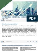Informe Anual de Proyecciones Económicas Colombia - 2019