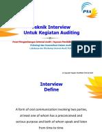 06.Teknik Interview Untuk Kegiatan Audit