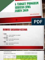 Sasaran & Target Laporan Kesehatan Jiwa_2019 Pkm