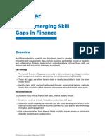 Close Emerging Skill Gaps in Finance