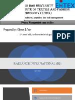 Radiance International Case Study Analysis PDF