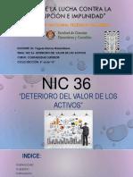 Nic36 Dterioro Del Valor de Los Activos