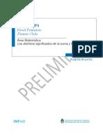 19. Ateneo N 1 - Matemática - Primaria Primer Ciclo - Carpeta Participante