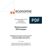 Reglementation MétrologiqueBelgique