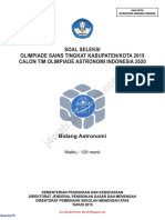 Soal Dan Kunci Jawaban OSK Astronomi SMA 2019