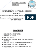 Reactive power control by fc-tcr