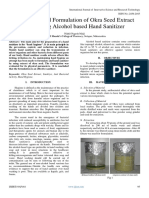 Evaluation and Formulation of Okra Seed Extract Containing Alcohol based Hand Sanitizer