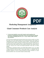 Marketing 3_ Group 3_ Giant Consumer Products_Case Analysis