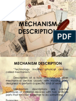 Technial Writing Mechanism Description