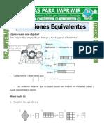 Ficha Fracciones Equivalentes Para Tercero de Primaria