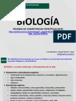 Contenidos PAU Biologia RM