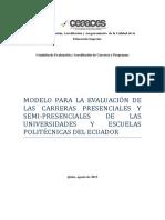 Ceaaces Eval Carreras 2013 Modelos Evaluacion Full
