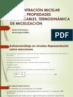CMC_Termodinamica de Micelización