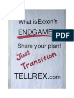"What is Exxon's Endgame plan for a ""Just Transition"" (Sign side A)"