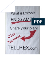 "What is Exxon's Endgame plan for a ""Just Transition"" (Sign side B)"