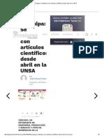 Arequipa_ Se Titularán Con Artículos Científicos Desde Abril en La UNSA