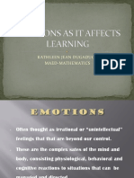 Emotions as It Affects Learning