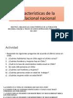 Características de La Poblacional Nacional