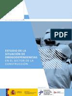 Estudio de La Situación de Drogodependencias en El Sector de La Construcción