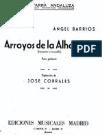 Arroyos de La Alhambra Angel Barrios Jz
