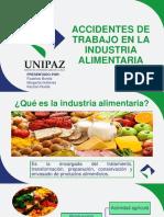 Accidentes de Trabajo en La Industria Alimentaria