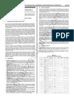 Gaceta Oficial 41642 BCV Estudio Comparativo TdC
