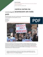 Protestos Contra Cortes Na Educacao Acontecem Em Todo Paispdf