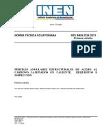 Nte_inen_2224-1 Perfiles Angulares Estructurales de Acero Al Carbono Laminados en Caliente. Requisitos e Inspección