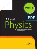 A Level Physics Paper 5 Book Selected Pages