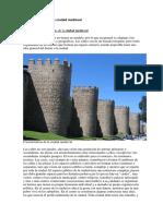 Características de La Ciudad Medieval