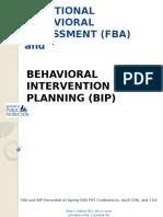 functional behavioral assessment and behavioral intervention planning