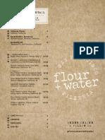 Flour + Water Pizzeria Menu