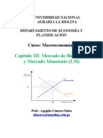 Capitulo III - Modelo is-LM