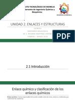 Presentación de Bioquímica Enlaces y Estructuras