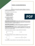 Magnitudes y Analisis Dimensional