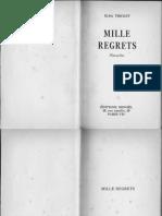 Mille Regrets (TRIOLET)