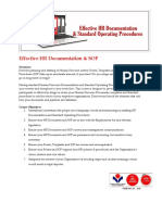 Effective HR Documentation & SOP