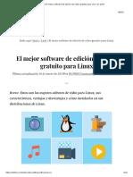 El Mejor Software de Edición de Video Gratuito Para Linux en 2019