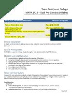 math 2412 precalculus tsc dual syllabus 19-20