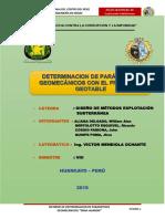 Indicadores Geomecanicos Veta MARTITA