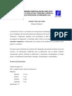Estructura de Tesis Cualitativa