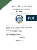 Proyecto Cas y Estabilidad Laboral
