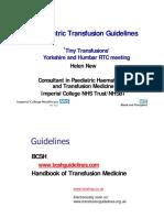 Paediatric Transfusion Guidelines